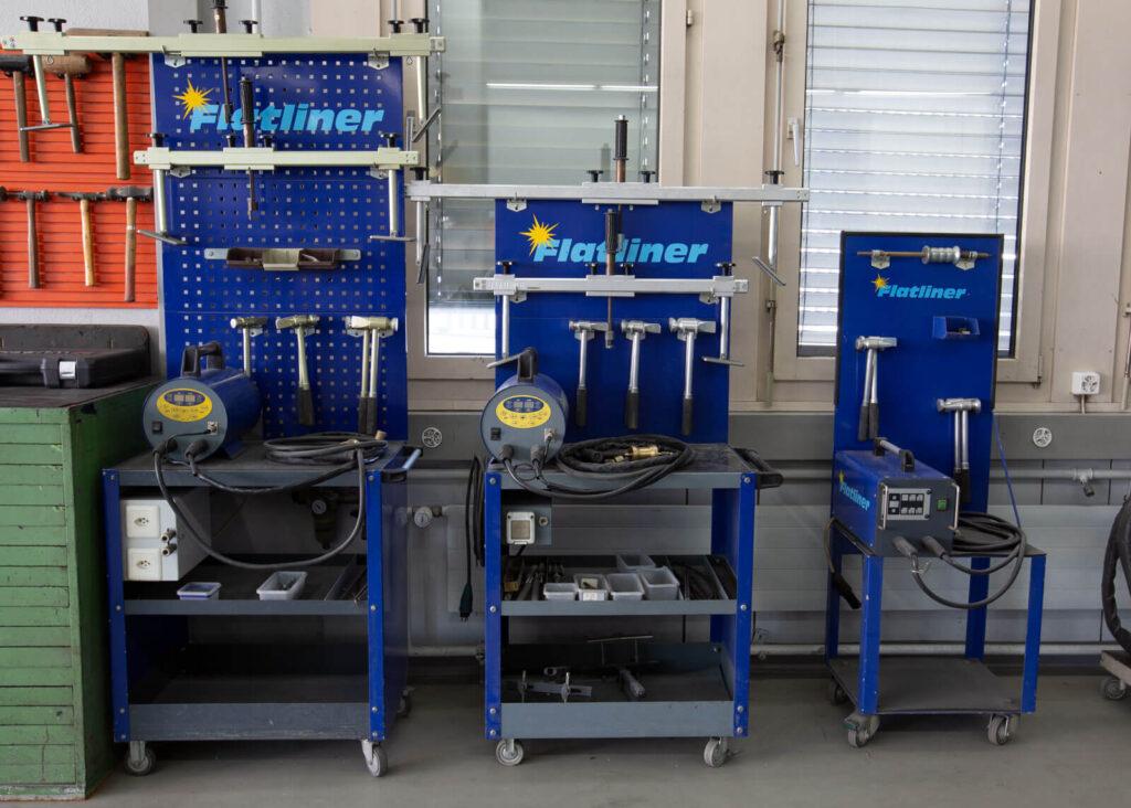 Flatliner Ausbeulungs Werkzeuge